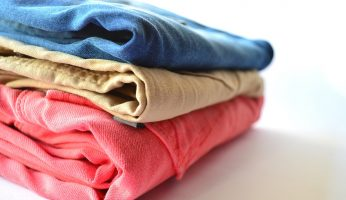 washed and folded clothes